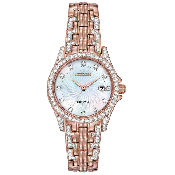 Citizen Eco-Drive Silhouette Crystal EW1228-53D