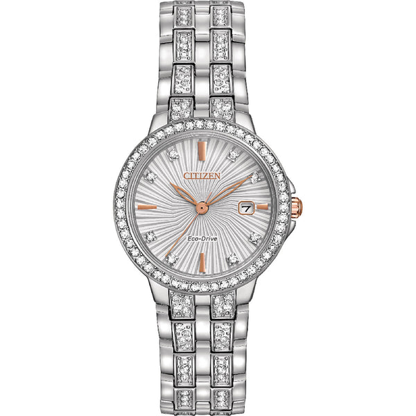 Citizen Eco-Drive Silhouette Crystal EW2340-58A