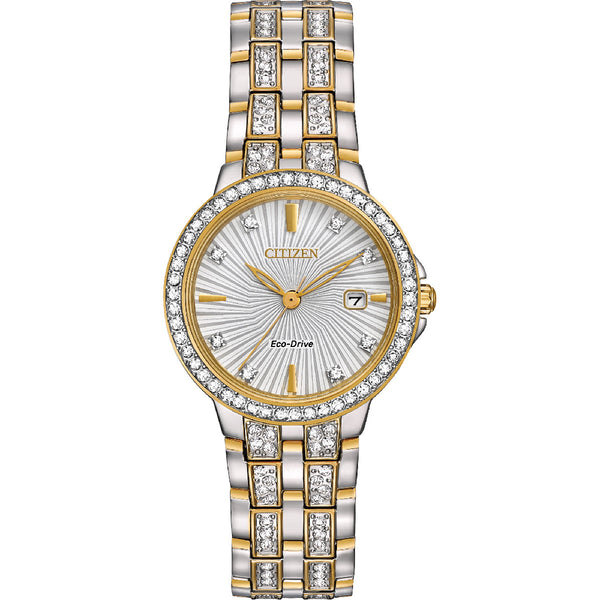 Citizen Eco-Drive Silhouette Crystal EW2344-57A