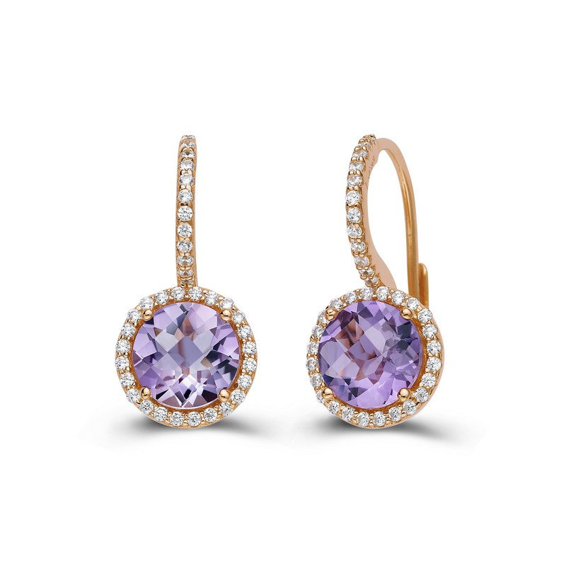 Lafonn Signature Lassaire Simulated Diamond Genuine Amethyst Earrings GE004AMR00