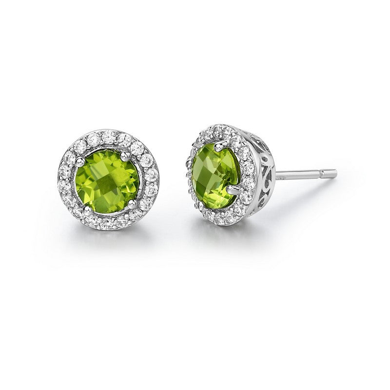 Lafonn Signature Lassaire Simulated Diamond Genuine Peridot Earrings GE006PDP00