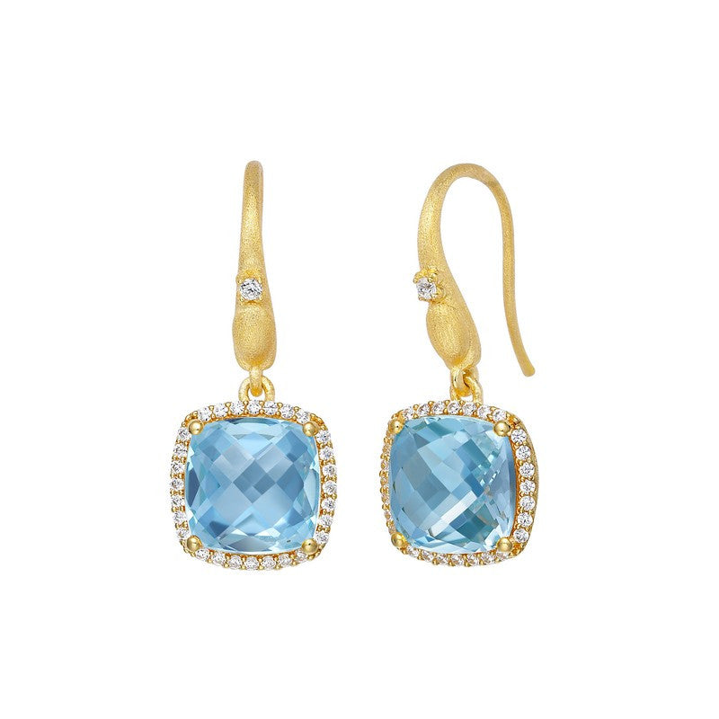 Lafonn Signature Lassaire Simulated Diamond Genuine Blue Topaz Earrings GE016BTG00
