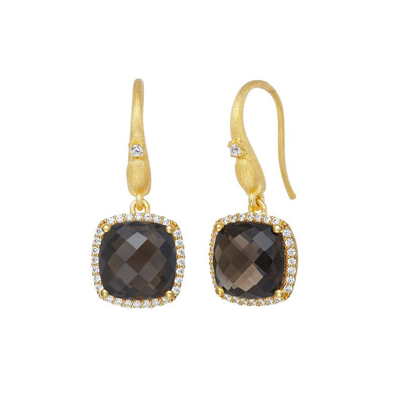 Lafonn Signature Lassaire Simulated Diamond Genuine Smoky Quartz Earrings GE016SMG00