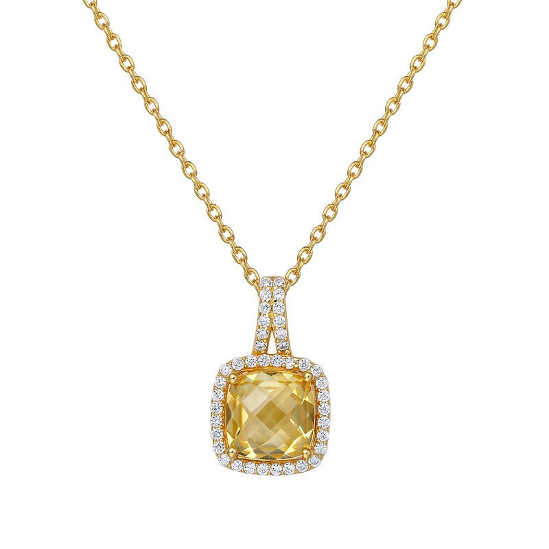 Lafonn Signature Lassaire Simulated Diamond Genuine Citrine Necklace GP003CTG18