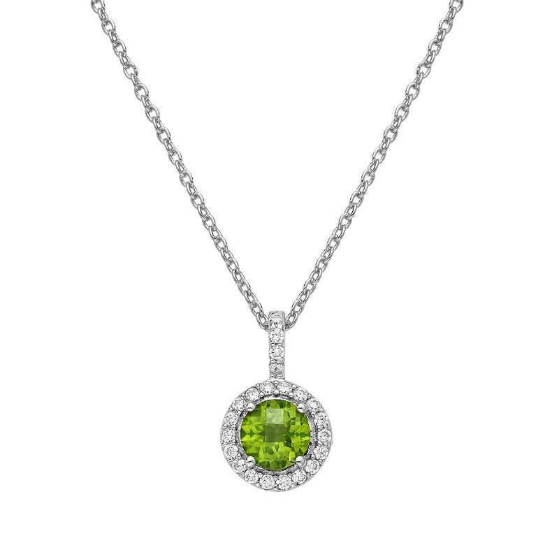 Lafonn Signature Lassaire Simulated Diamond Genuine Peridot Necklace GP006PDP18