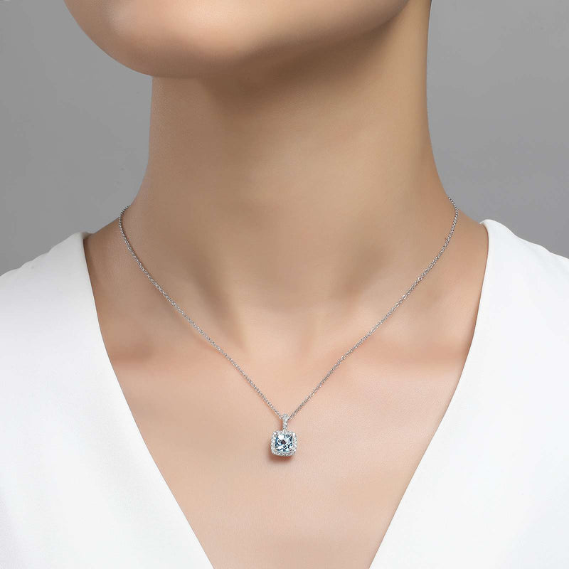 Lafonn Signature Lassaire Simulated Diamond Genuine Blue Topaz Necklace GP007BTP18