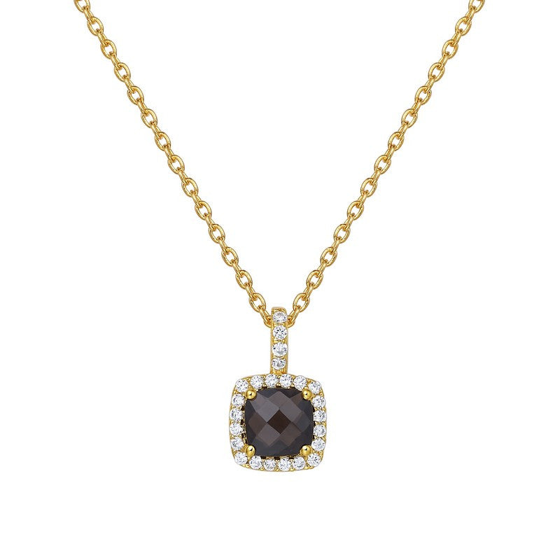 Lafonn Signature Lassaire Simulated Diamond Genuine Smokey Quartz Necklace GP007SMG18