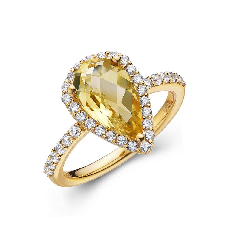 Lafonn Signature Lassaire Simulated Diamond and Genuine Citrine Ring GR001CTG05