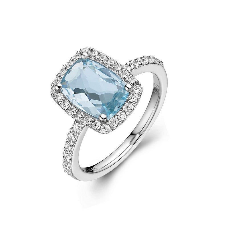 Lafonn Signature Lassaire Simulated Diamond Genuine Blue Topaz Ring GR002BTP05