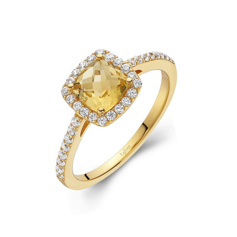 Lafonn Signature Lassaire Simulated Diamond Genuine Citrine Ring GR007CTG05
