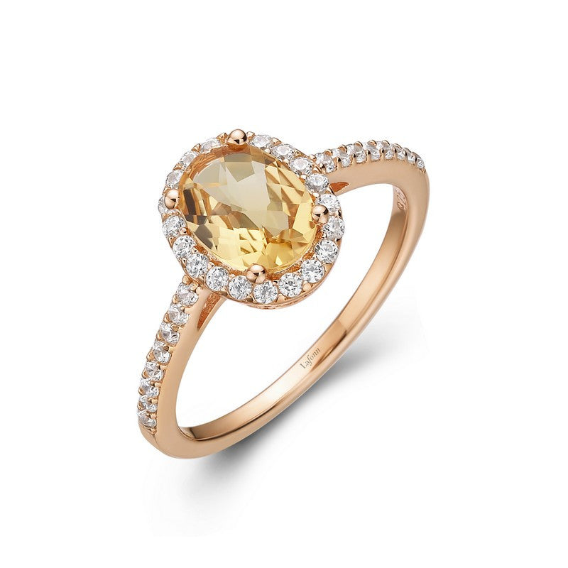 Lafonn Signature Lassaire Simulated Diamond Genuine Citrine Ring GR008CTR05