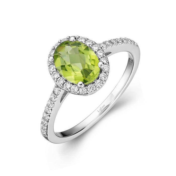 Lafonn Signature Lassaire Simulated Diamond Genuine Peridot Ring GR008PDP05