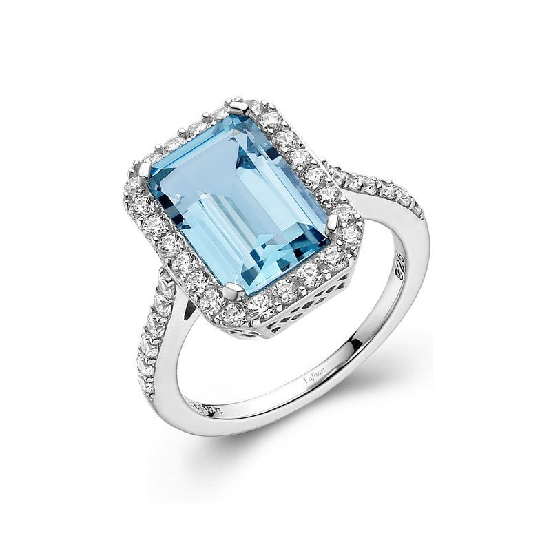 Lafonn Signature Lassaire Simulated Diamond Genuine Blue Topaz Ring GR011BTP05
