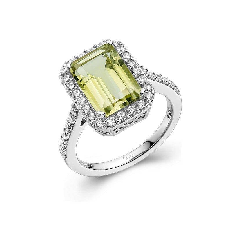 Lafonn Signature Lassaire Simulated Diamond Genuine Lemon Quartz Ring GR011LMP05