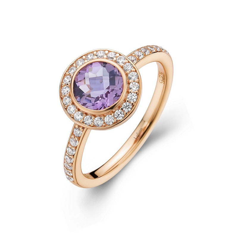 Lafonn Signature Lassaire Simulated Diamond Genuine Amethyst Ring GR016AMR
