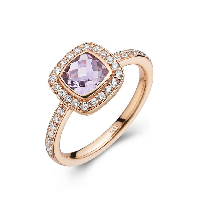 Lafonn Signature Lassaire Simulated Diamond Genuine Amethyst Ring GR017AMR05