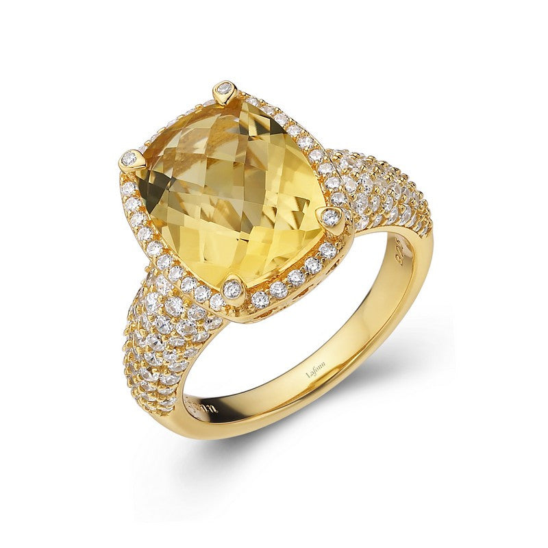 Lafonn Signature Lassaire Simulated Diamond and Genuine Citrine Ring GR018CTG05