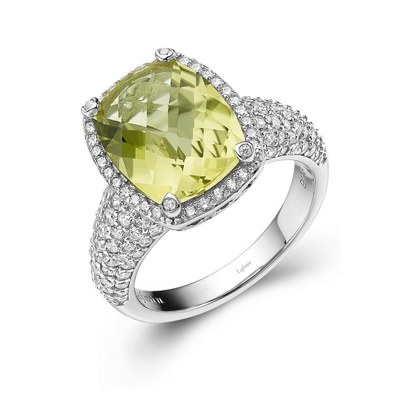 Lafonn Signature Lassaire Simulated Diamond and Genuine Lemon Quartz Ring GR018LMP05