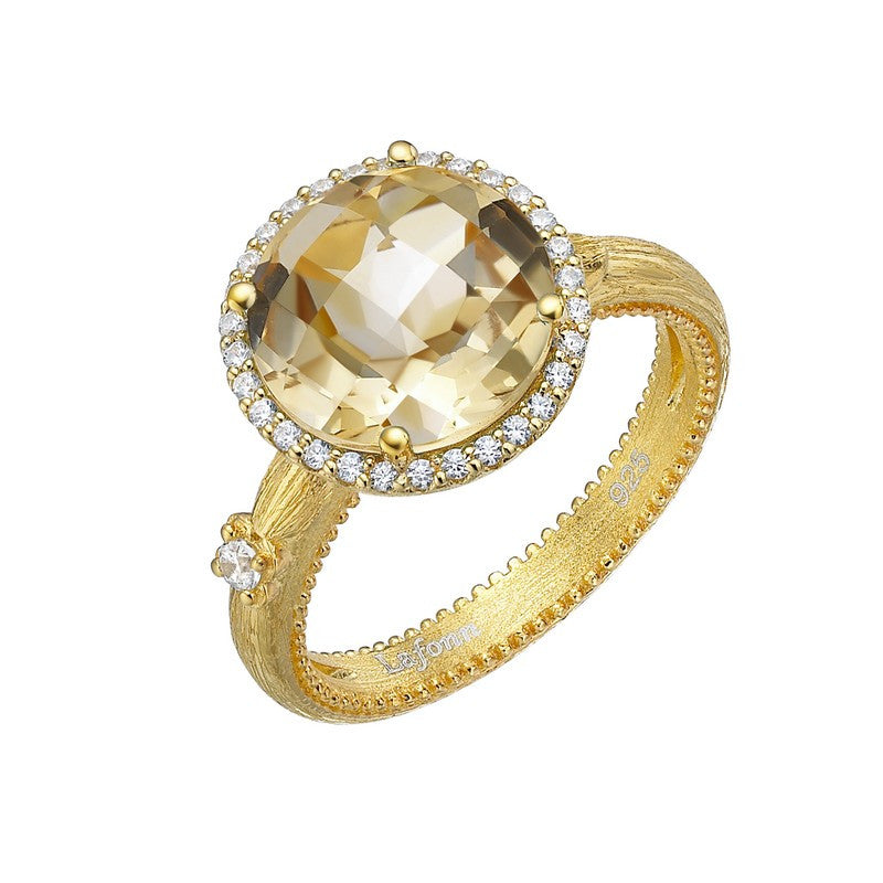 Lafonn Signature Lassaire Simulated Diamond and Genuine Citrine Ring GR024CTG05