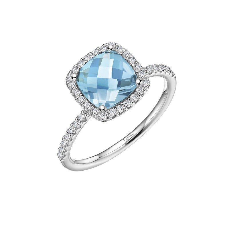 Lafonn Signature Lassaire Simulated Diamond Genuine Blue Topaz Ring GR026BTP05