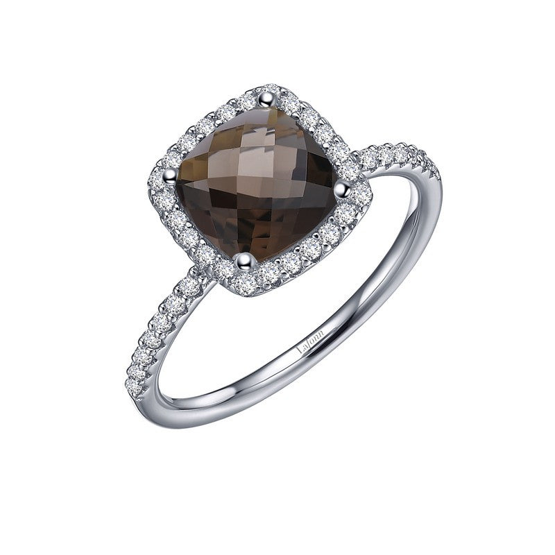 Lafonn Signature Lassaire Simulated Diamond Genuine Smokey Quartz Ring GR026SMP05