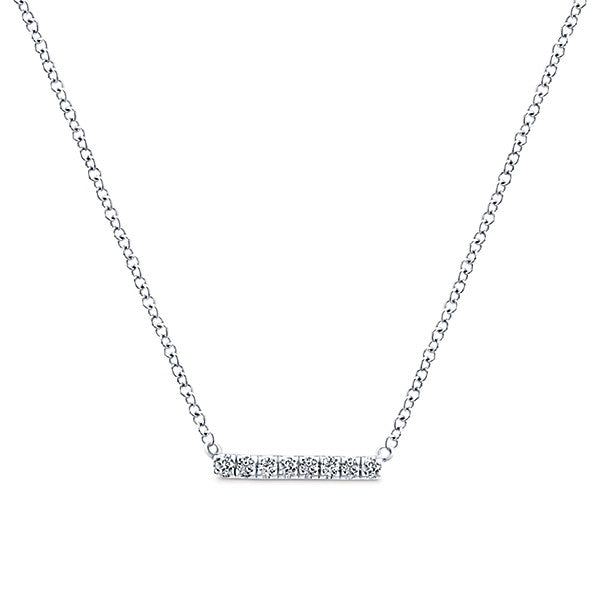 Gabriel & Co. 14K White Gold Indulgence Collection Diamond Bar Necklace NK5422W45JJ