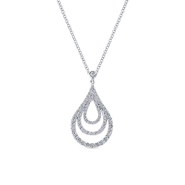 Gabriel & Co. 14K White Gold Divine Loose Pendants Necklace NK4387W4