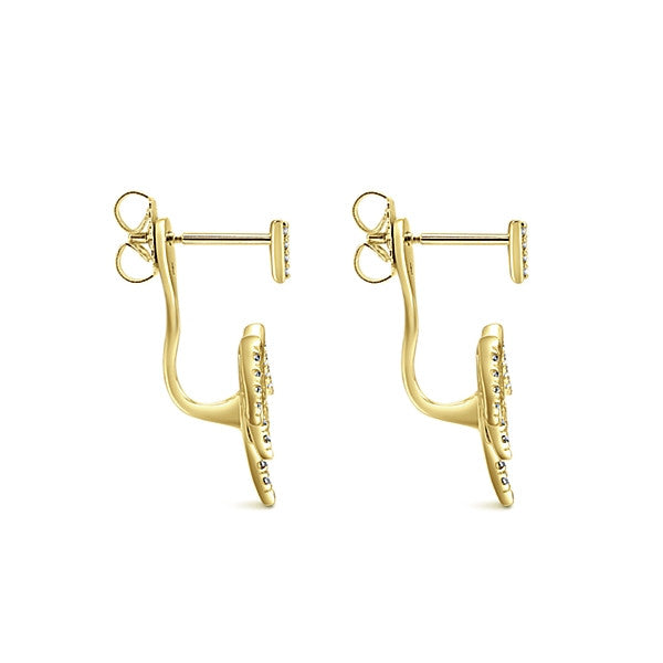 Gabriel & Co. 14K Yellow Gold Diamond Peek A Boo Spike Earrings EG13019Y45JJ