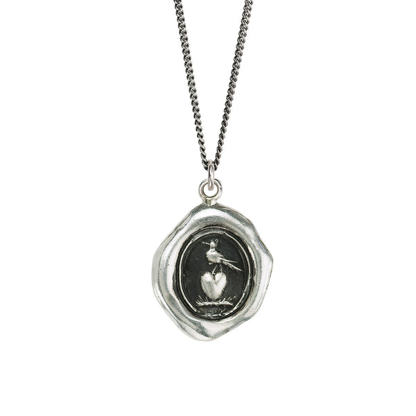 Pyrrha-Martlet & Heart Talisman Necklace