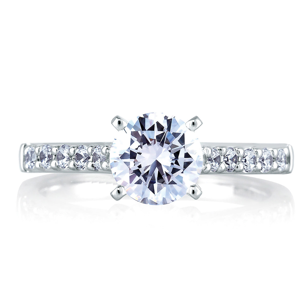 A.Jaffe Cathedral Classic Engagement Ring ME1353/30