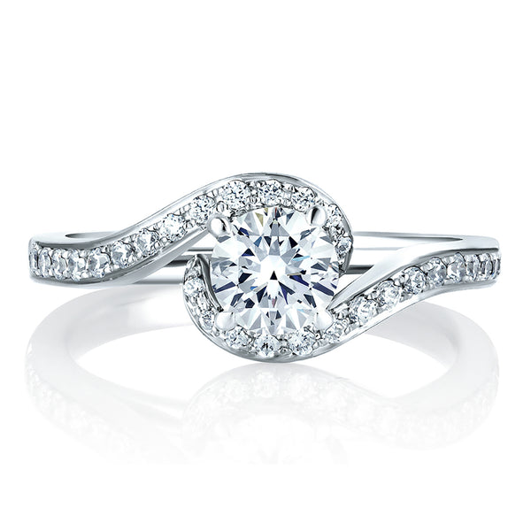 A.Jaffe Engagement Ring with a Delicate Twist ME1557/102
