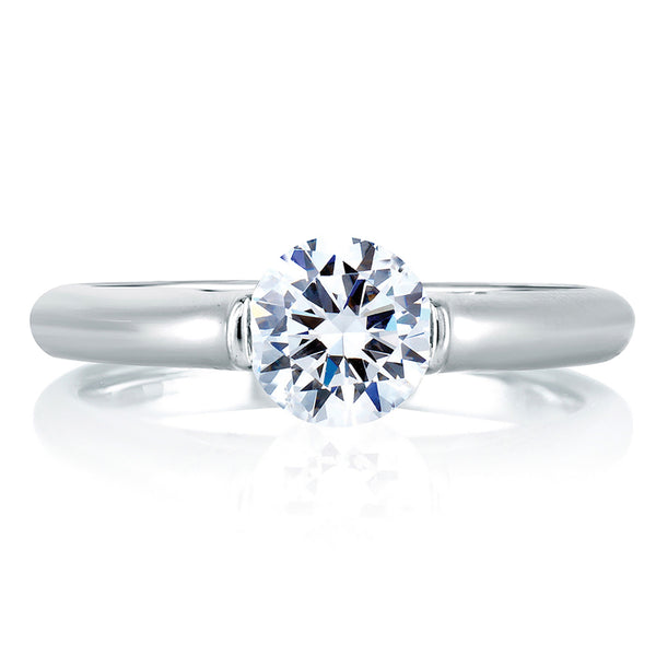 A.Jaffe Modern Solitaire Cathedral Engagement Ring ME1563/75