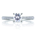 A.Jaffe Cathedral Pave with Diamond Studded Center Prongs Ring ME1567/75