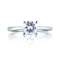 A.Jaffe Center Diamond Studded Prong Engagement Ring ME1585/105