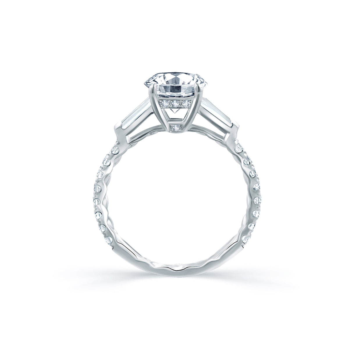 A.Jaffe Diamond Engagement Ring with Tapered Baguettes ME1867Q/209