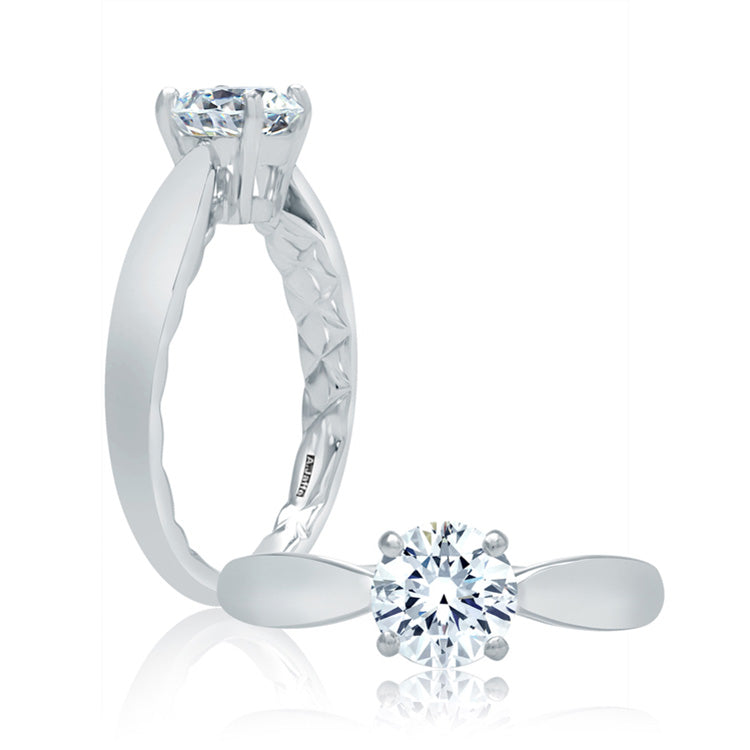 A.Jaffe Tapered Shank Engagement Ring ME2043Q/100