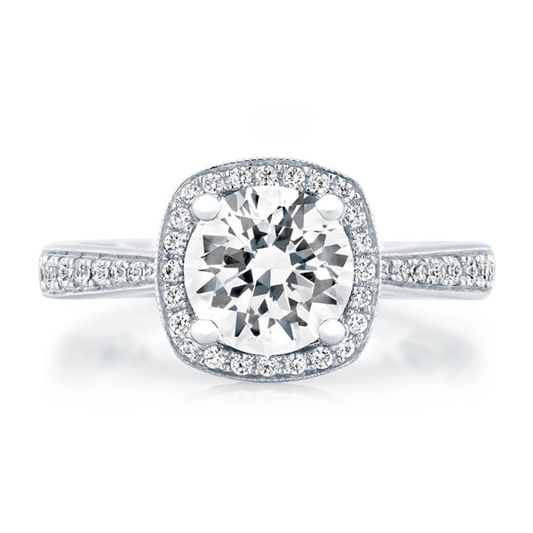 A.Jaffe Ornate Basket Halo Engagement Ring ME2052Q/192