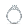 A.Jaffe Deco Inspired Graduated Shank Modern Vintage Engagement Ring ME2102Q/117