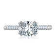 A.Jaffe East/West Oval Cut Four Prong Engagement Ring ME2142Q/184