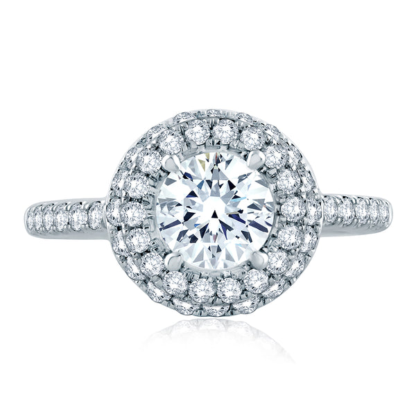 A.Jaffe Double Pave Halo Modern Classic Engagement Ring ME2151/166