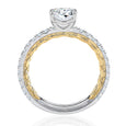 A.Jaffe Classic Two-Tone Oval Cut Diamond Engagement Ring MECOV2333Q/192