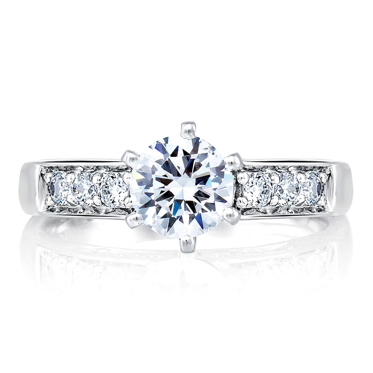 A.Jaffe Classic Side Channel Set Engagement Ring MES025/46