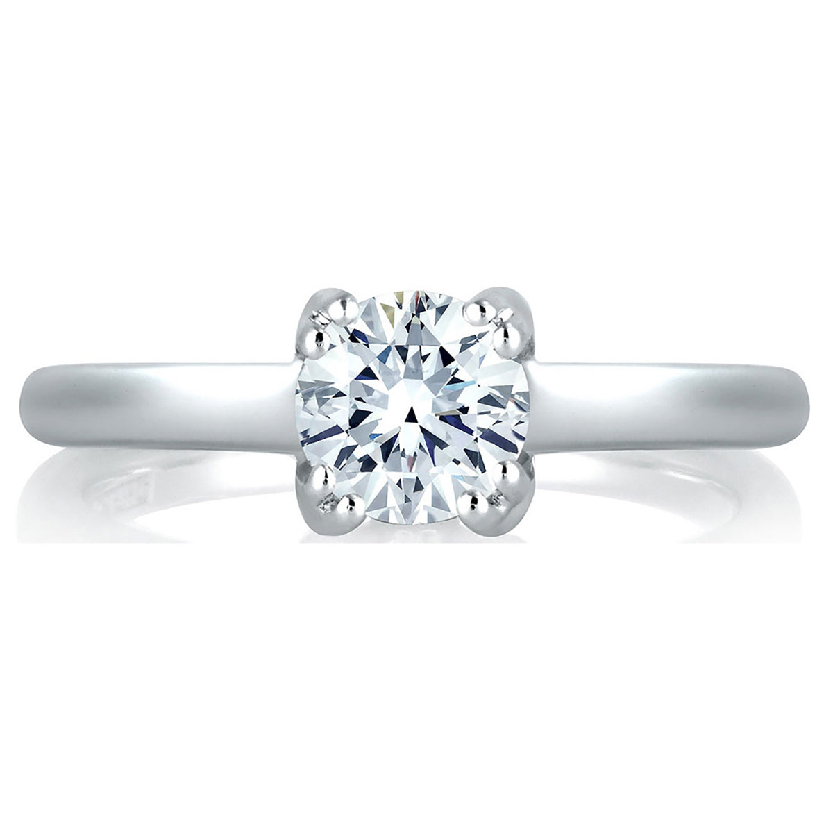 A.Jaffe Split Prong Simple Solitaire Engagement Ring MES096/52