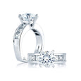 A.Jaffe Classic Princess Channel Set Engagement Ring MES161/148