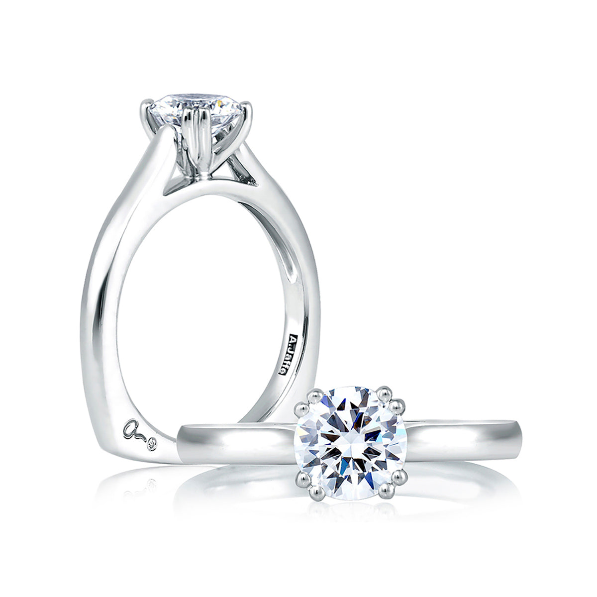 A.Jaffe Classic Double Prong Solitaire Engagement Ring MES166/126