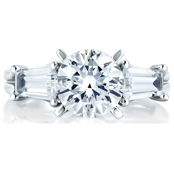 A.Jaffe Engagement Ring with Tapered Baguettes MES263/115