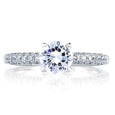 A.Jaffe Classic French Pave Top & Profile Engagement Ring MES307/151