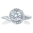 A.Jaffe Engagement Ring with a Swirl and Halo Look MES374/63