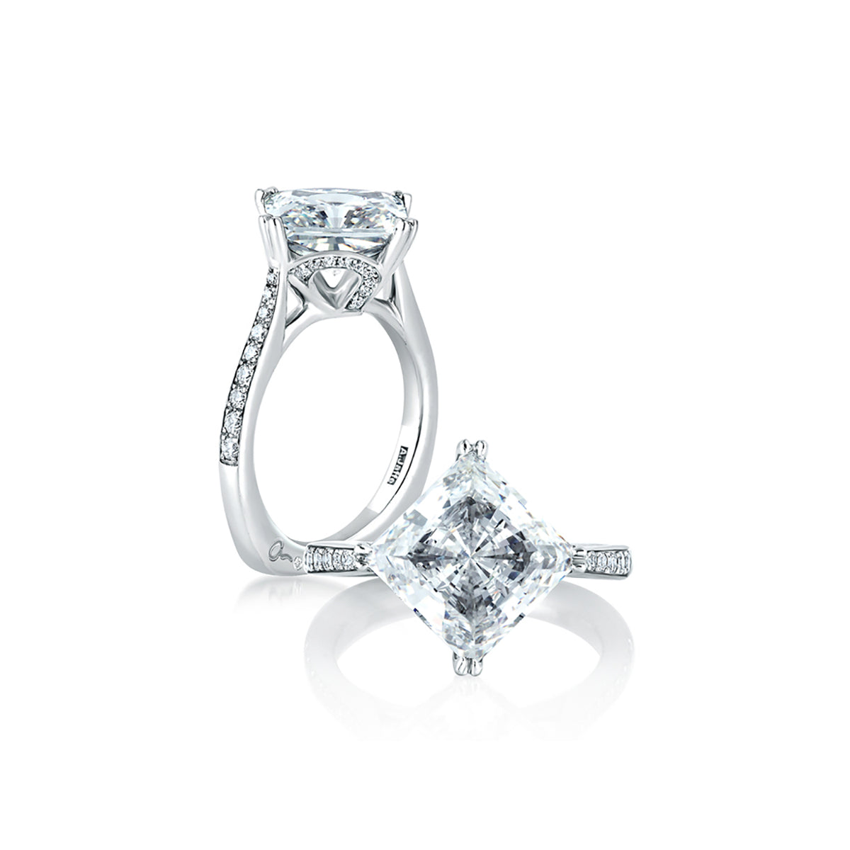 A.Jaffe Whimsical Cushion Engagement Ring MES420/334