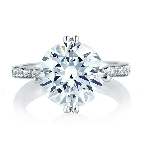 A.Jaffe Round Statement Engagement Ring MES421/283